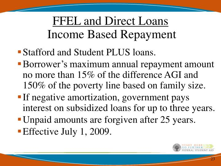 FFEL and Direct Loans