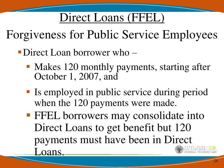 Direct Loans (FFEL)