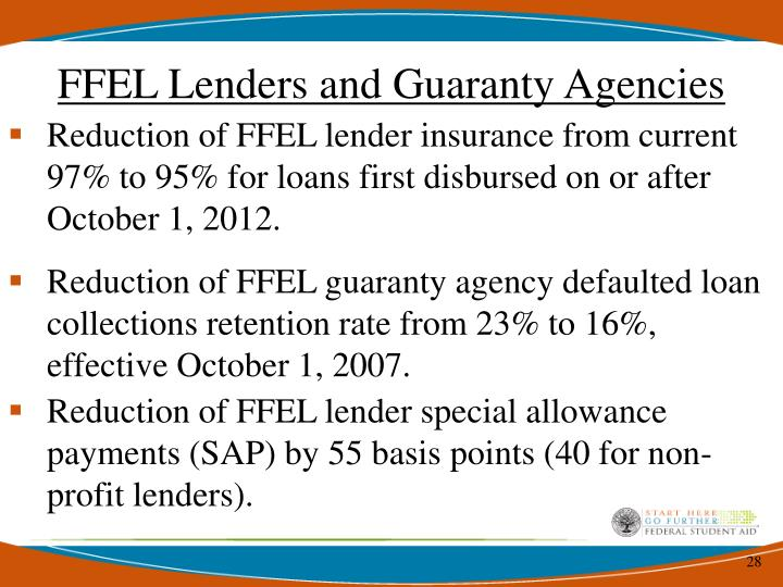 FFEL Lenders and Guaranty Agencies