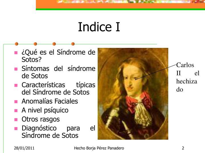 Indice I