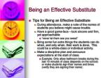 being an effective substitute4