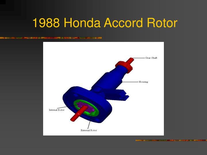 1988 Honda Accord Rotor