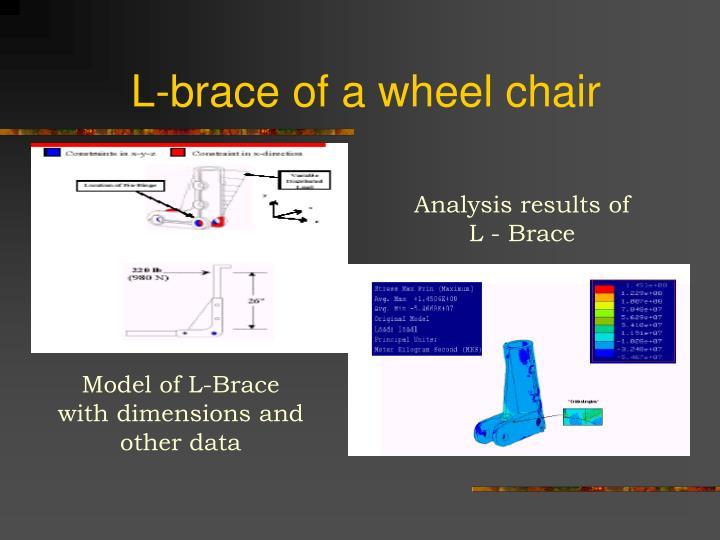 L-brace of a wheel chair