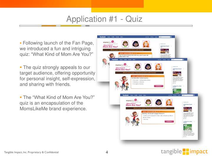 Application #1 - Quiz