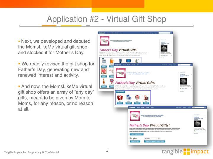 Application #2 - Virtual Gift Shop