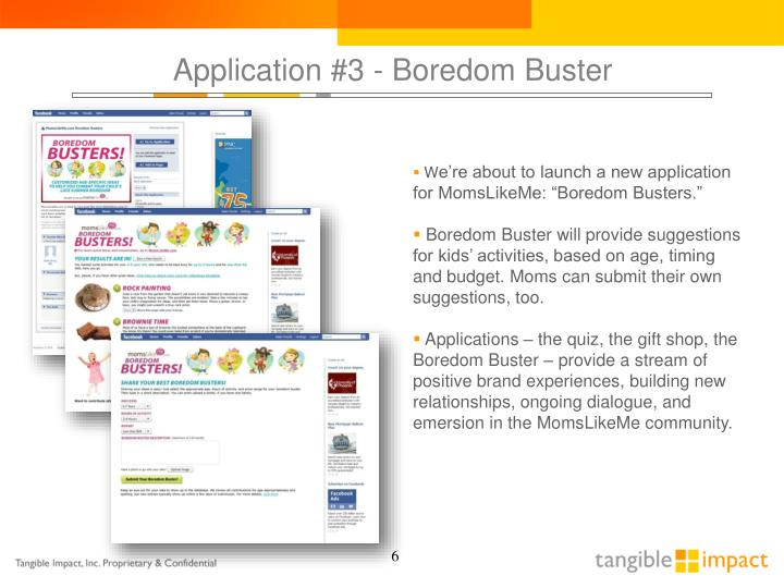 Application #3 - Boredom Buster