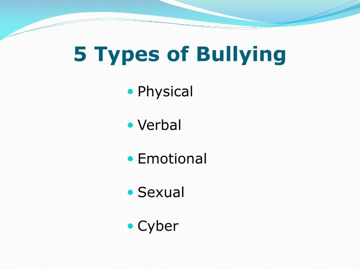 5 types of bullying
