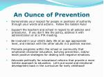 an ounce of prevention3