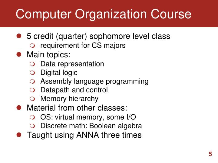 Computer Organization Course
