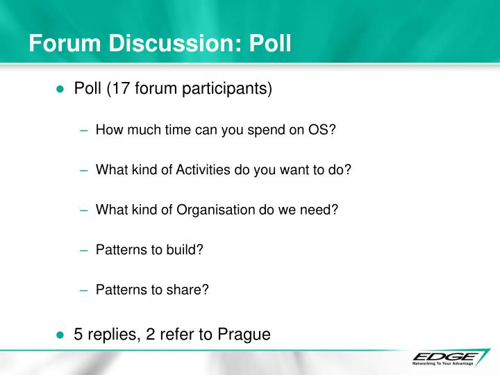 Forum Discussion: Poll