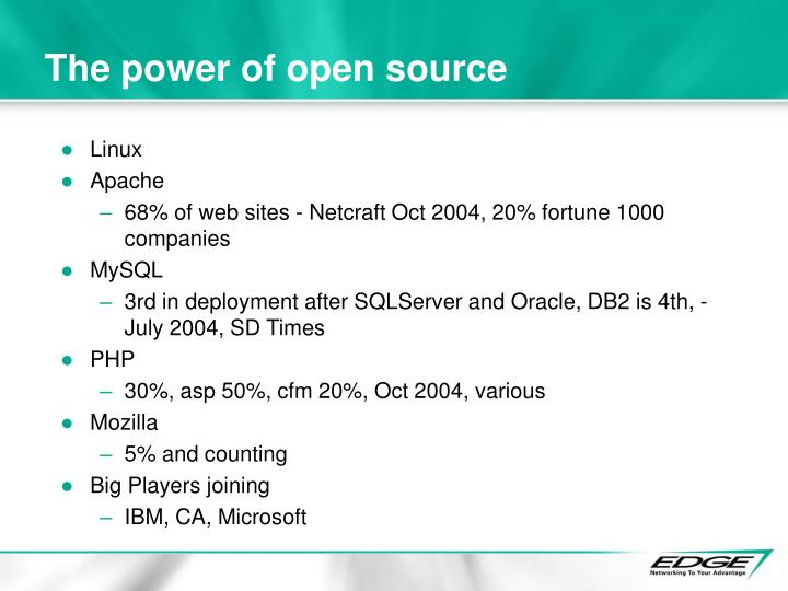 The power of open source
