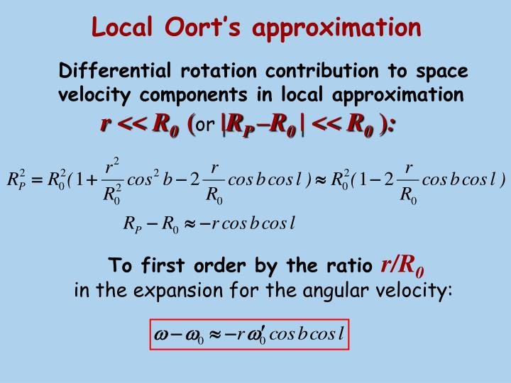 Local Oort's approximation