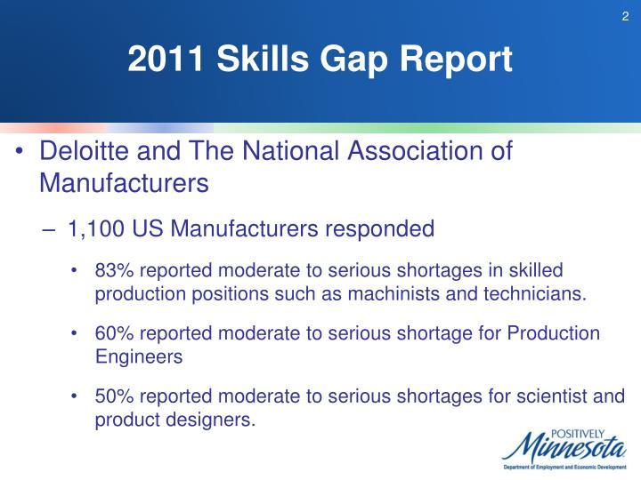 2011 Skills Gap Report