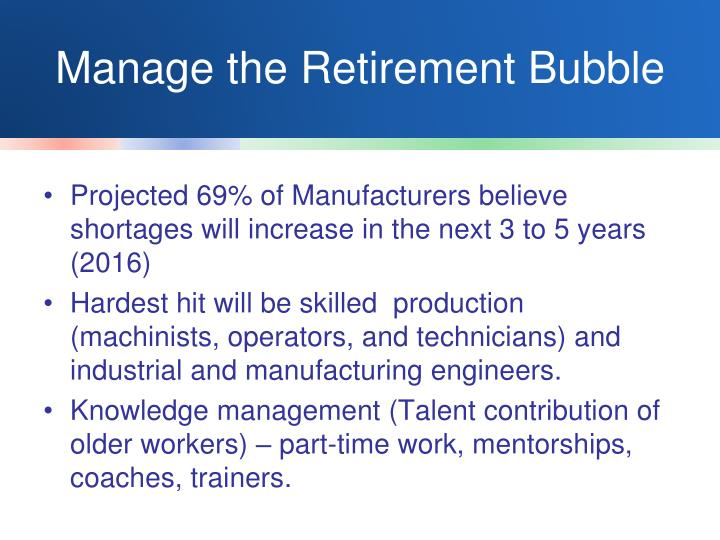 Manage the Retirement Bubble