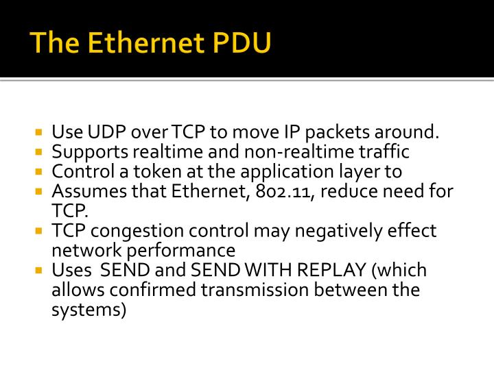 The Ethernet PDU