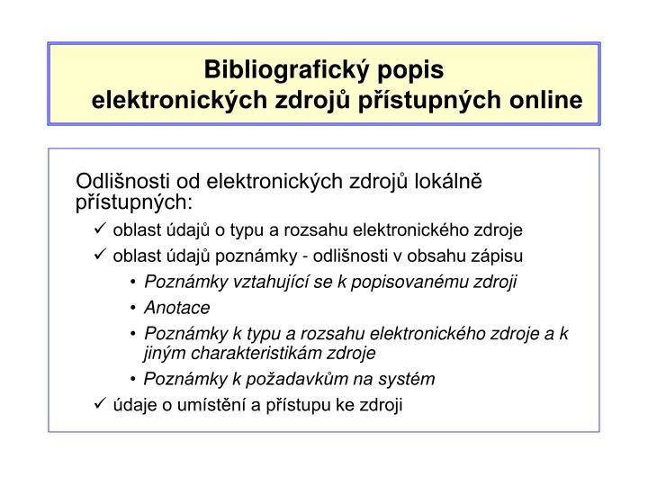 Bibliografický popis