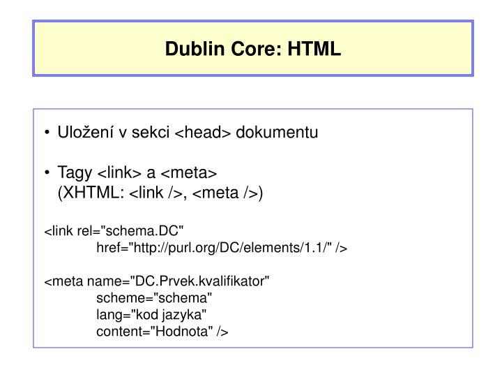 Dublin Core: HTML