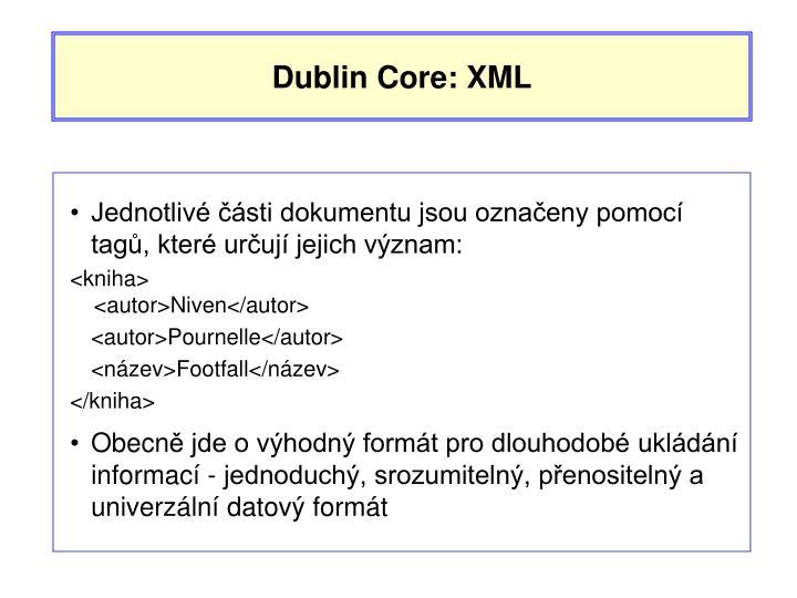 Dublin Core: XML