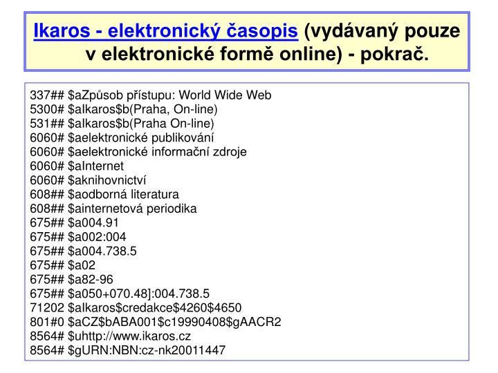Ikaros - elektronický časopis
