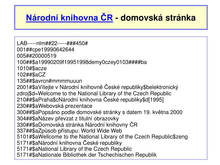 Národní knihovna ČR