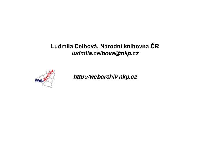 Ludmila Celbová, Národní knihovna ČR