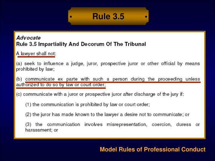 Rule 3.5