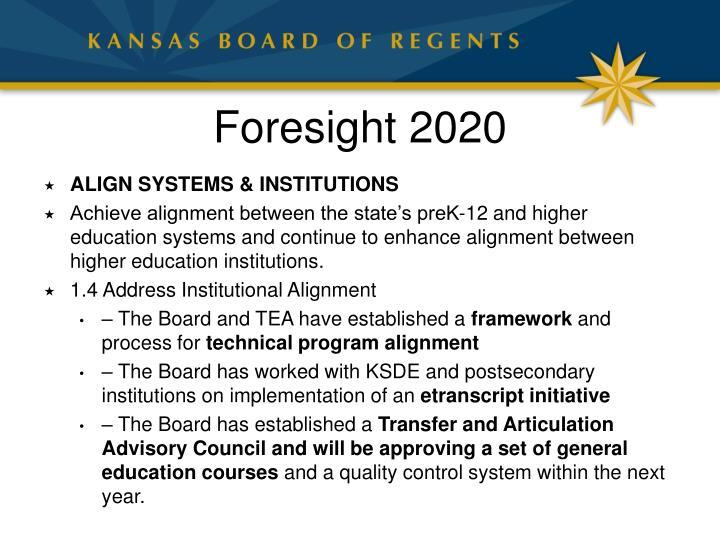 Foresight 2020
