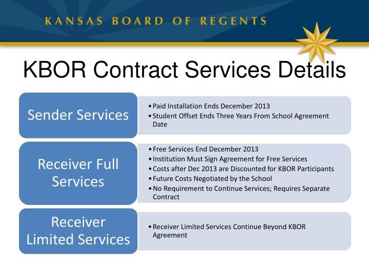 KBOR Contract Services Details