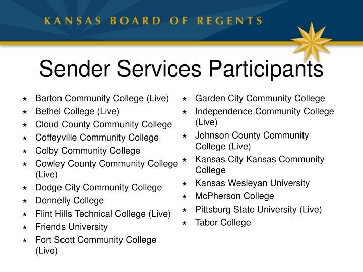 Sender Services Participants