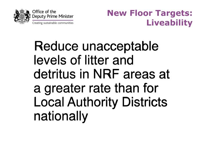 New Floor Targets: Liveability
