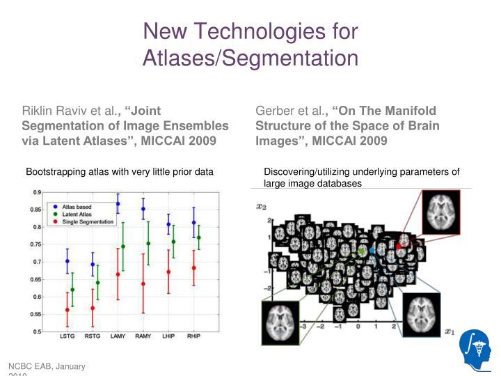 New Technologies for Atlases/Segmentation