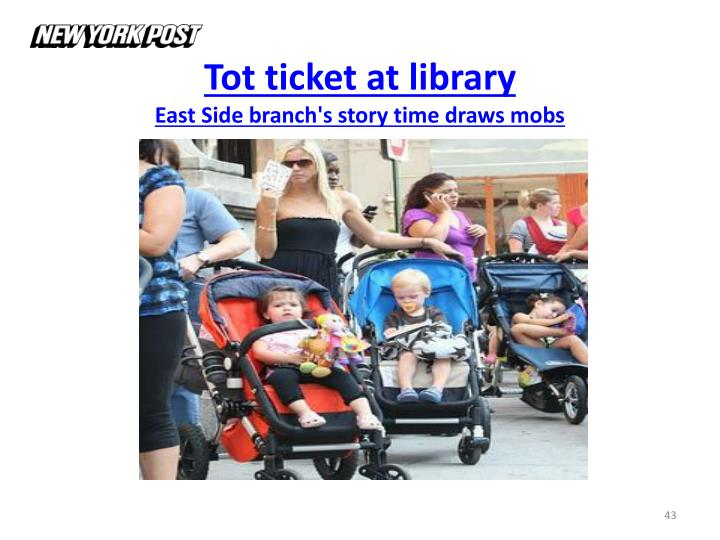 Tot ticket at library