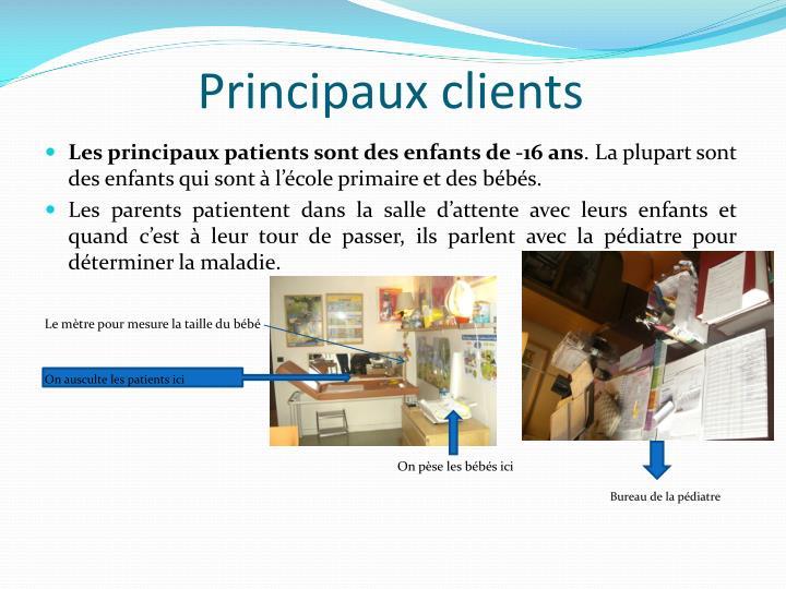 Principaux clients