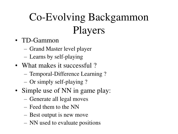Co-Evolving Backgammon Players