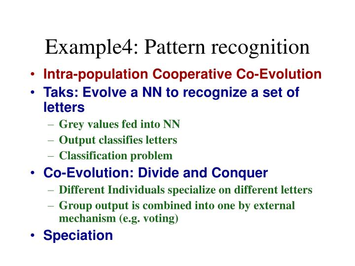 Example4: Pattern recognition