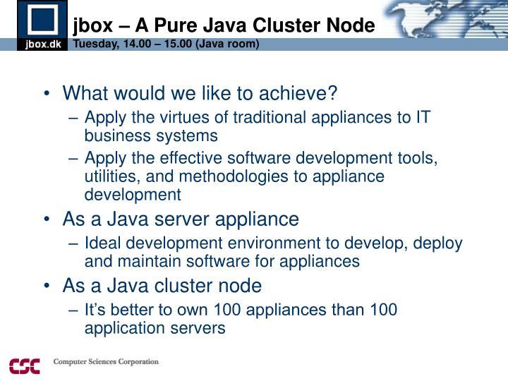 jbox – A Pure Java Cluster Node