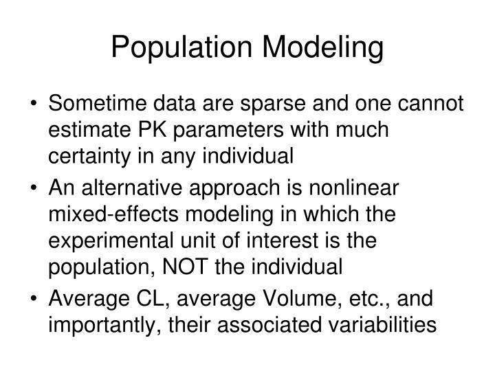 Population Modeling