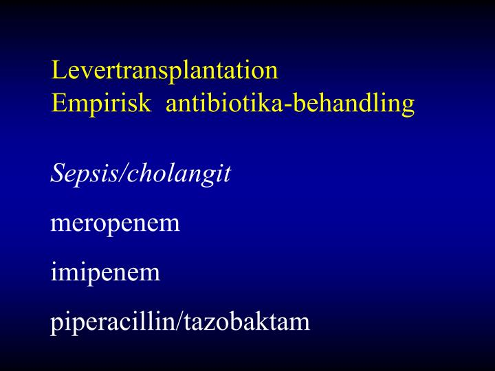 Levertransplantation
