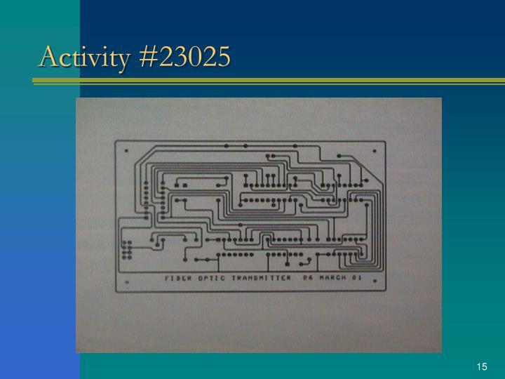 Activity #23025