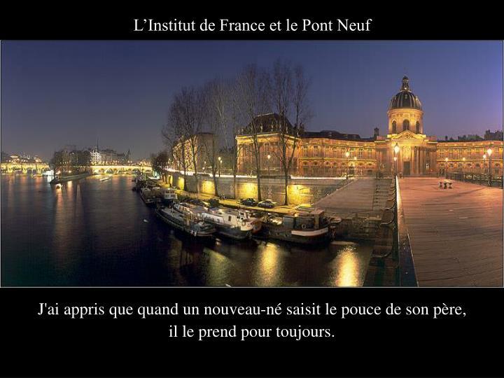 L'Institut de France et le Pont Neuf