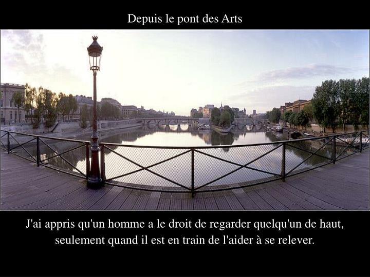 Depuis le pont des Arts