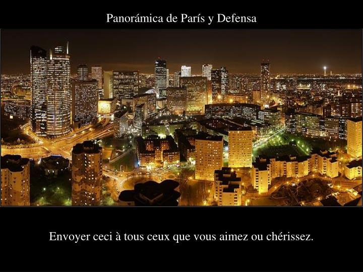 Panorámica de París y Defensa