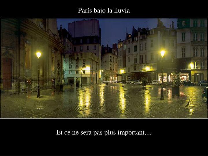 París bajo la lluvia