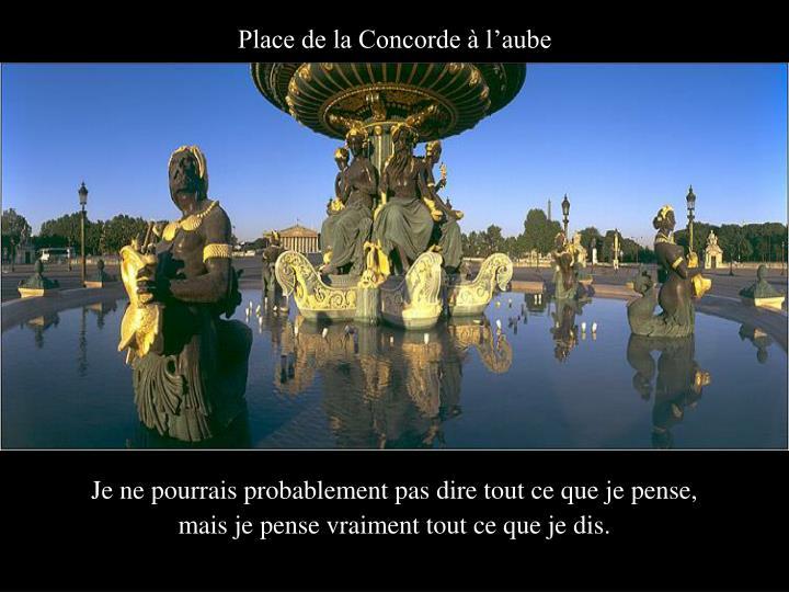 Place de la Concorde à l'aube