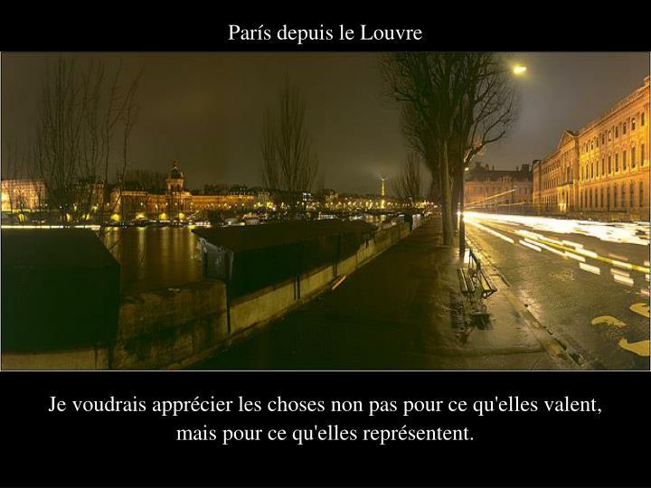París depuis le Louvre