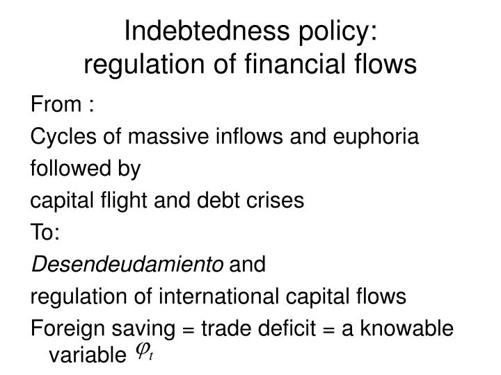 Indebtedness policy: