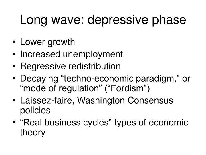 Long wave: depressive phase