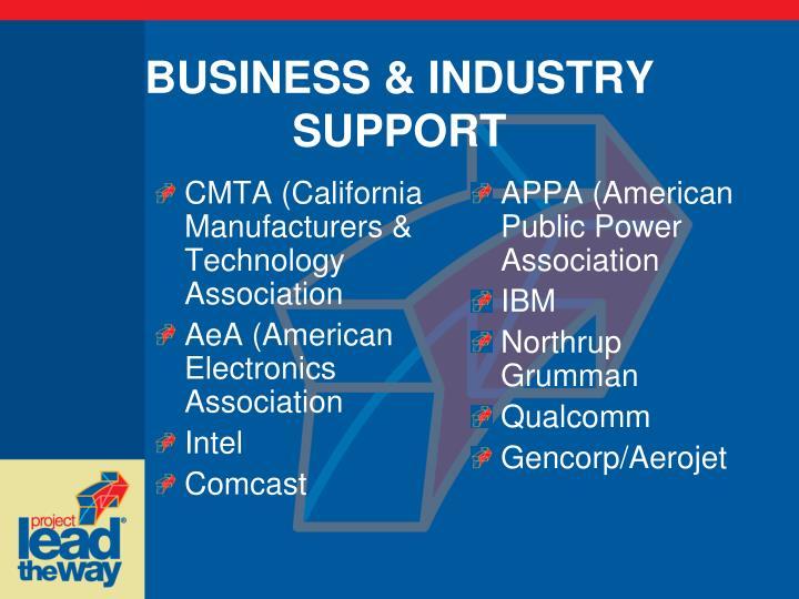 CMTA (California Manufacturers & Technology Association
