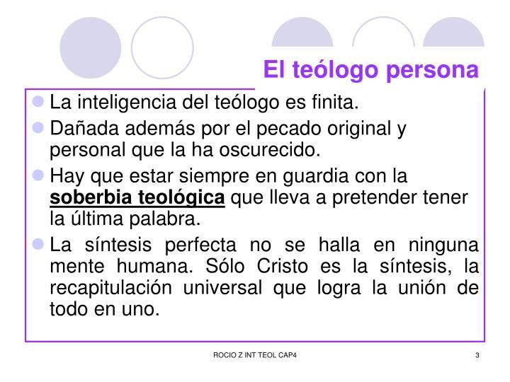 El teólogo persona