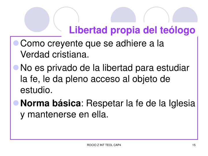 Libertad propia del teólogo